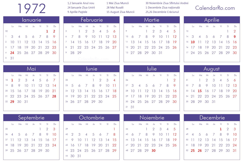 1972 Calendar Www Topsimages Com