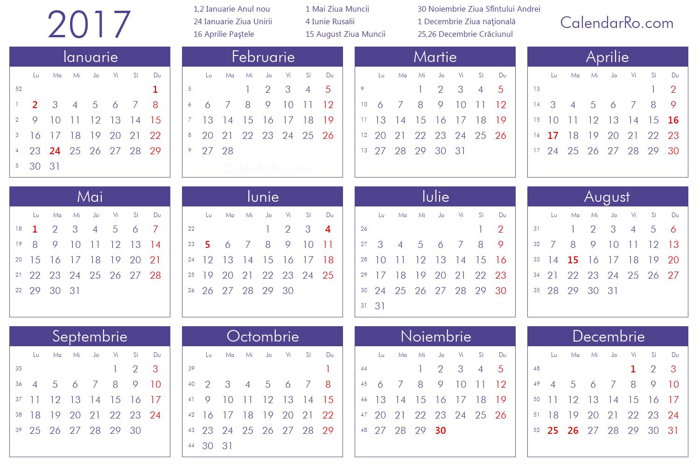 calendar 2016 ianuarie