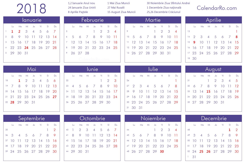 Calendar 2018 Septembrie