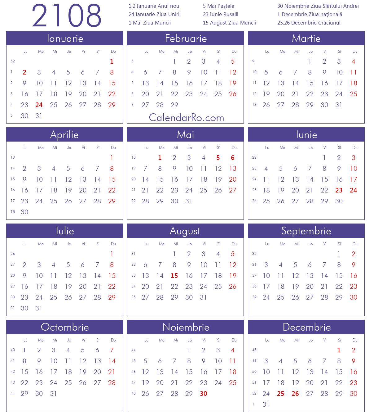 Calendar 2018 Pdf Romana